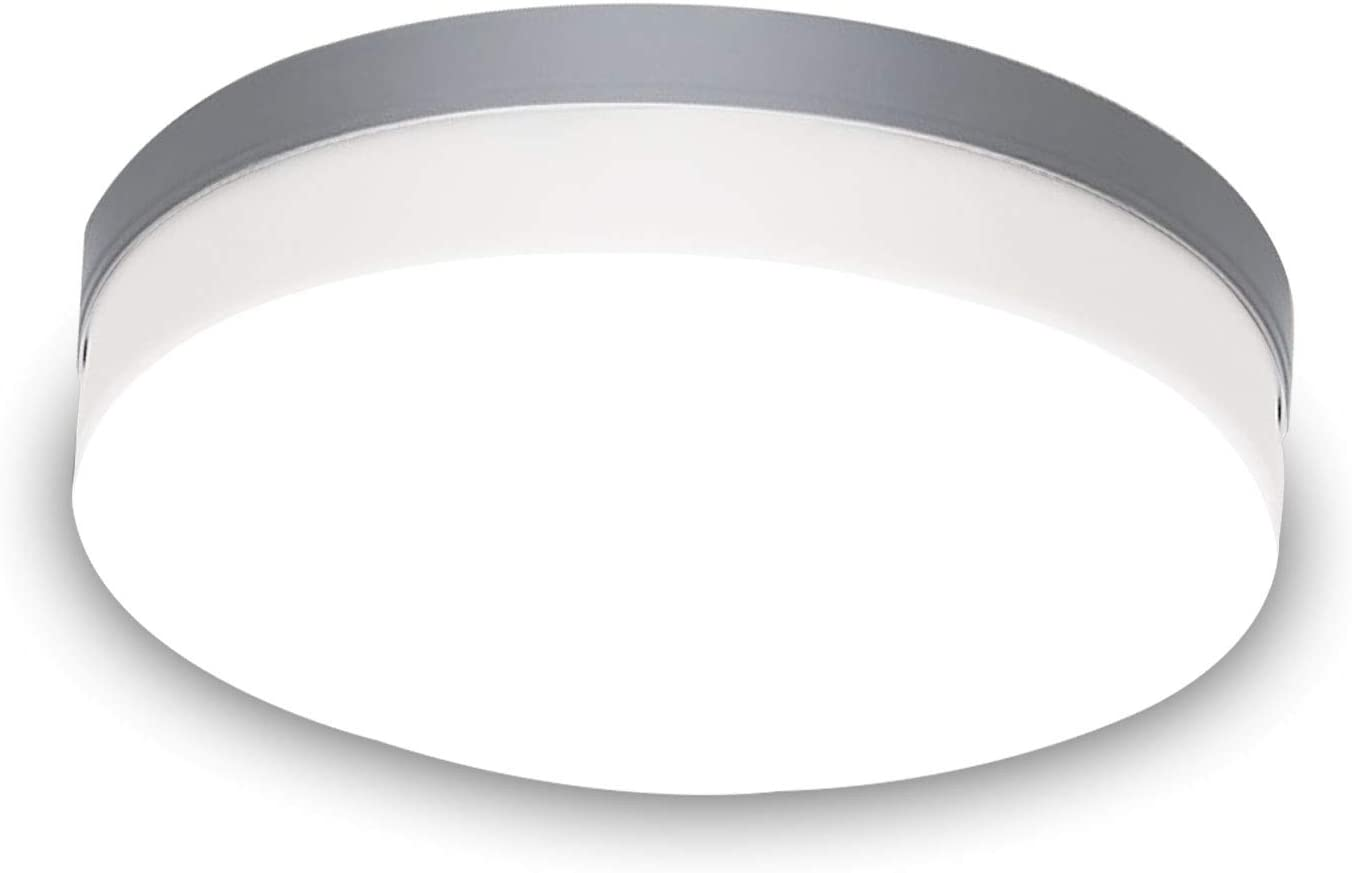 New Modern Led Ceiling Light 12 inch,48W Fixture with Round Close to Ceiling Lights , Daylight White 6000K , for Bedroom/Kitchen/Office/Dining Room Lighting,Installation is Very Simple