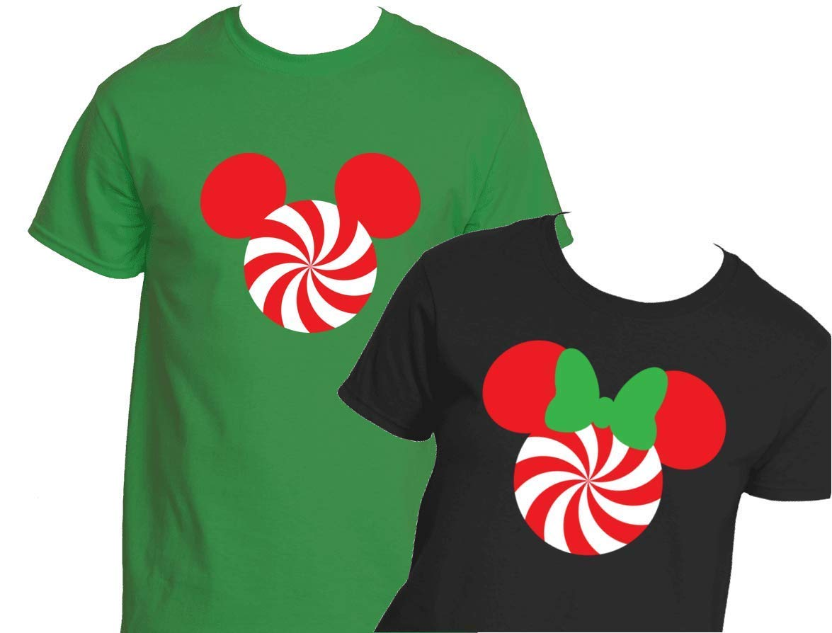 Christmas Peppermint Mouse T-Shirt Vacation Party Trick or Treat