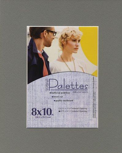 Palettes Pre-Cut Mat- Harbor 8x10 Inch (4.5x6.5 Inch Window)