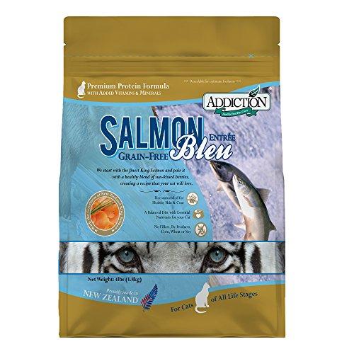 Addiction Salmon Bleu Grain Free Dry Cat Food, 4 Lb.