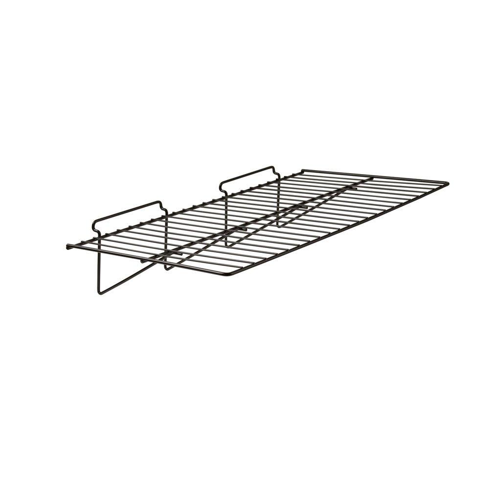 12'' x 24'' Straight Shelf For Slatwall 6 Pcs - Black Fits All Slat Wall Panels