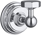 KOHLER K-13113-CP Pinstripe Robe Hook, Polished Chrome