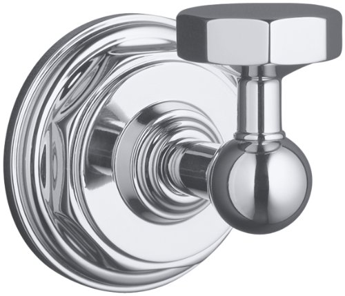 KOHLER K-13113-CP Pinstripe Robe Hook, Polished Chrome by Kohler