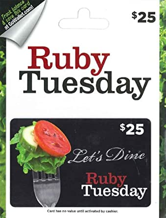 Ruby Tuesday Gift Card 25 Gift Cards