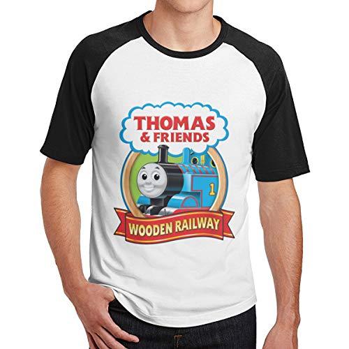 Seuriamin Thomas The Tank Engine & Friends Men's Classic Outdoor Raglan Baseball Short Sleeve Tee Tops -