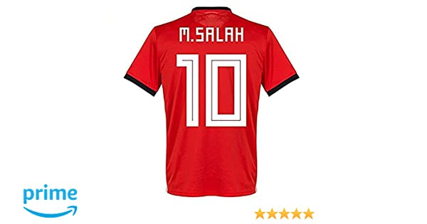 3a41456d3 Amazon.com  2018 Russia World Cup  10 M Salah Egypt National Team Home Mens  Soccer Jersey Red Size M  Clothing