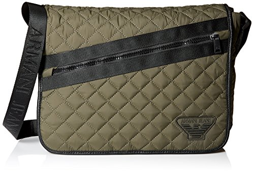 Armani Jeans Men's Quilted Fabric Messenger Bag by ARMANI JEANS