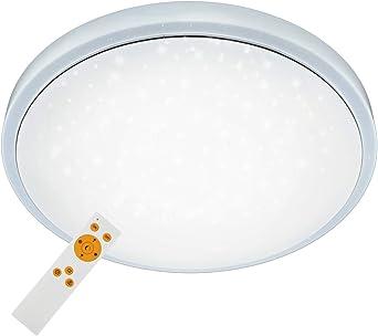 Briloner Leuchten LED Deckenleuchte, dimmbar, Farbton einstellbar: warm weiß kalt, Deckenlampe inkl. Nachtlicht Funktion, Timerfunktion,