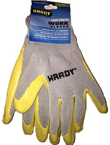 Hardy Latex Coated Work Gloves, Large