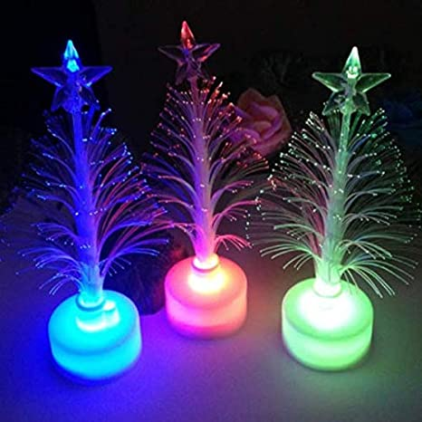 6 LED Santa Hat Hair Clips 6 LED Bracelet Wristband 6 LED Glasses 3 Glow Trees Astra Gourmet LED Glow Party Favors for Kids 21 Pcs Light Up Glow in The Dark Party Supplies