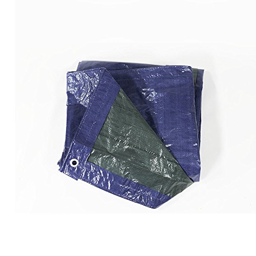 9' Blue Canopy Tent - Sunnydaze 9x12 Waterproof Tarp, Heavy Duty Multi-Purpose, Outdoor Reversible, Blue/Green