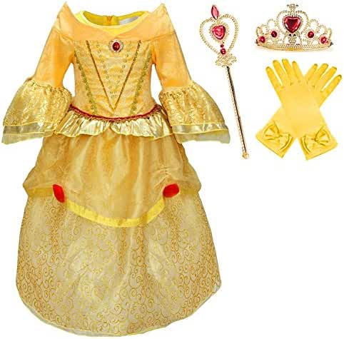 Princess Belle Deluxe Yellow Party Dress Costume