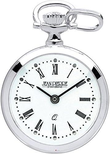 クラシックペンダント懐中時計スターリングシルバーのオープン直面 - ローマ数字 - クォーツ