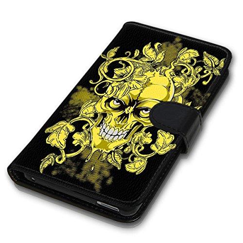 Wallet Book Style Flip Handy Tasche Case Schutz Hülle Schale Motiv Etui für Apple iPhone 4 / 4S - Design Flip MV156