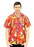 Scarface Tony Montana Hawaiian Adult Costume Button Up Shirt (Adult XX-Large)