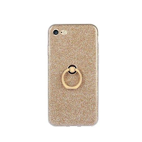 Hülle für iPhone 7 ,Schutzhülle Für Iphone 7 Fingerring Stand Muster Ultra Thin Slim zurück Fall Deckung ,cover für apple iPhone 7,case for iphone 7 ( Color : Gold )