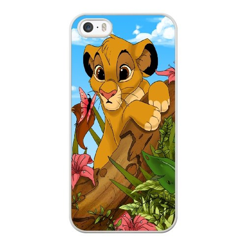 Coque,Coque iphone 5 5S SE Case Coque, Lion King Fan Art Cover For Coque iphone 5 5S SE Cell Phone Case Cover blanc