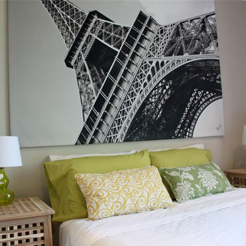 amazoncom new ikea eiffel tower picture with framecanvas large 55 x 78 inches canvas panels