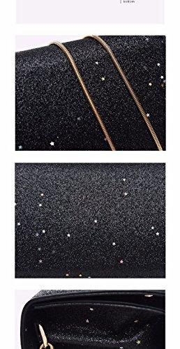 A Catena festa Argentea black Match Tracolla Borsa di MSZYZ Tutti Paillettes Piccole Fashion Regali Sacchetta Borsa EYpBOq