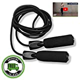 Jump Rope and Workout Video Exercise Program :: New Fitness Skipping Rope for Men & Women :: Adjustable Jumping Ropes for Adult Speed Skip Cardio Training :: Includes 2 Instructional eBooks