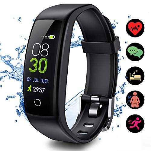 ELEGIANT 2019 Version Newest Color Screen Fitness Tracker HR, IP67 Waterproof Activity Trackers Watch with Heart Rate and Sleep Monitor, Smart Band Calorie Counter, GPS Pedometer for Men Women