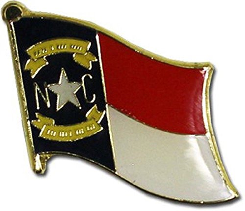 ALBATROS Pack of 12 State of North Carolina Flag Lapel Pin for Bike Hat and Cap for Home and Parades, Official Party, All Weather Indoors Outdoors