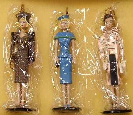 Amazon Com Vintage Barbie Classic Christmas Ornament Set 1995