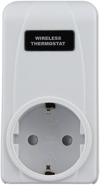 RF433.92MHz Wireless Fernbedienung Thermostat Plug-in Remote-Buchse mit gro/ßen LCD-Display Elektrische Heizung und K/ühlung Temperaturregler