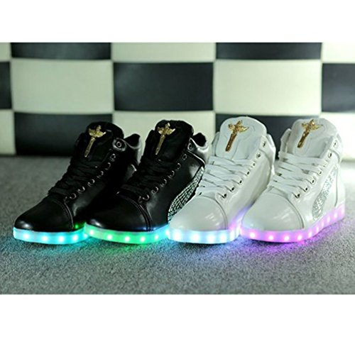 Present Sh Led 7 Light Up High Colors Trainers Top White towel JUNGLEST small qwCprPqSF