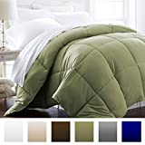 Alternative Comforter - Beckham Hotel Collection 1200 Series - Lightweight - Luxury Goose Down Alternative Comforter - Hotel Quality Comforter and Hypoallergenic  -King/Cali King - Sage