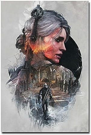 Geralt The Witcher 3 Wild Hunt Custom Home Decor Art Wallpaper Decoractive Print Poster Wall Sticker 20 X 30 Inch Amazon Ca Home Kitchen