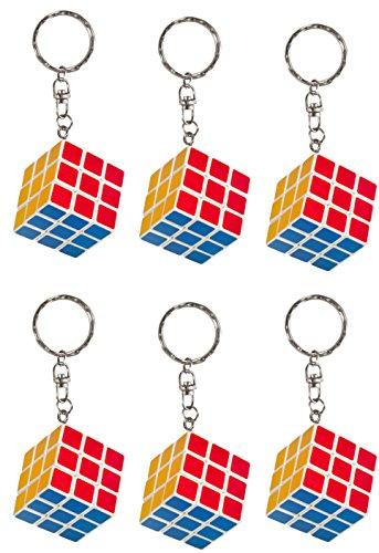 IQ Toys Set of 6 Magic Cube Key Chains