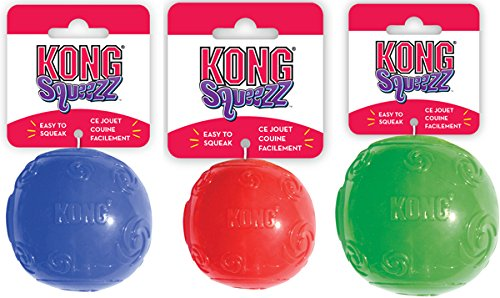 Kong Squeezz Ball Assorted Colors Large 2 Pack