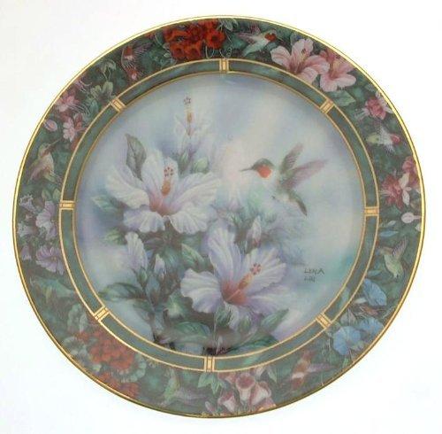 W.S. George c1992 Lena Lius Hummingbird Treasury The Ruby Throated Hummingbird plate ()