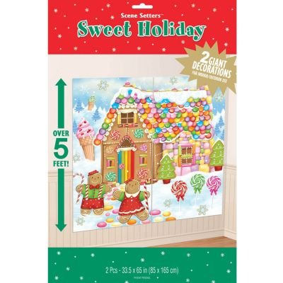 Very Merry Christmas Sweet Holiday Scene Setters Add-Ons Party Decorations, Vinyl, 65