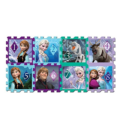 8 Piece Disney Frozen Kids Foam Jigsaw Hopscotch Puzzle M...