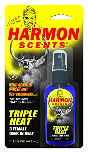 Harmon Scents - Triple Heat Female In Heat - HTH - Hunting Scents - 2 Ounces - Whitetail Urines - Deer Hunting Attractant - Doe (Estrous Urine)