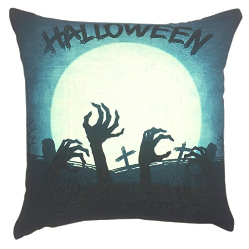 Origin Of Halloween Holiday (YOUR SMILE Festival Holiday Feast Cotton Linen Square Decorative Throw Pillow Case Cushion Cover 18x18 Inch(45CM45CM) (Halloween)