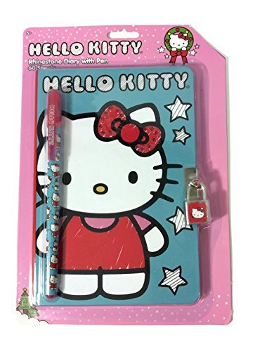UPC 765940560310, Hello Kitty Rhinestone Diary with Pen and Lock