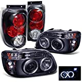 Rxmotoring 1995-1997 Ford Explorer Headlights Projector + Tail Light