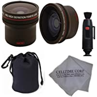 52MM Professional Lens Accessory Kit for NIKON DSLR (D7100 D5200 D5100 D5000 D3200 D3100 D3000 D90 D80) - Includes: 0.14x Ultra Fisheye Lens + Carry Pouch + Lens Cleaning Pen + Celltime Lens Cleaning Cloth