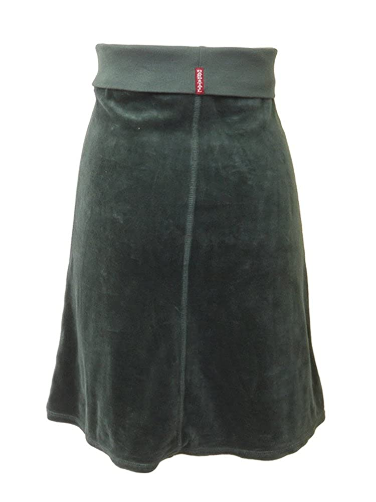 Hard Tail Junior Velour Flair Skirt M, Green
