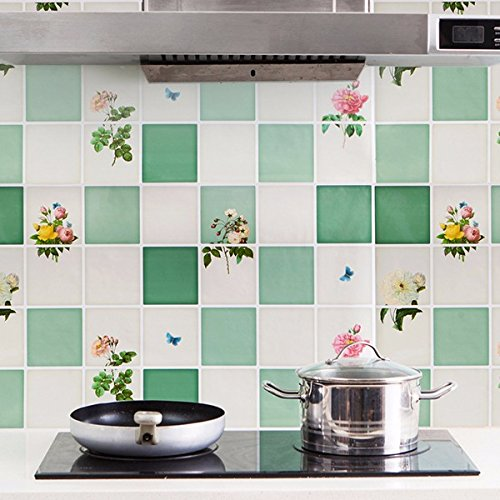 Kitchen Tools & Gadgets - 7545cm Kitchen Selfadhesive Oil-Proof Wall Sticker Aluminum Removable Waterproof Sticker Home Decor - Fence Label Palisade Gummed Rampart - - Food Palisades