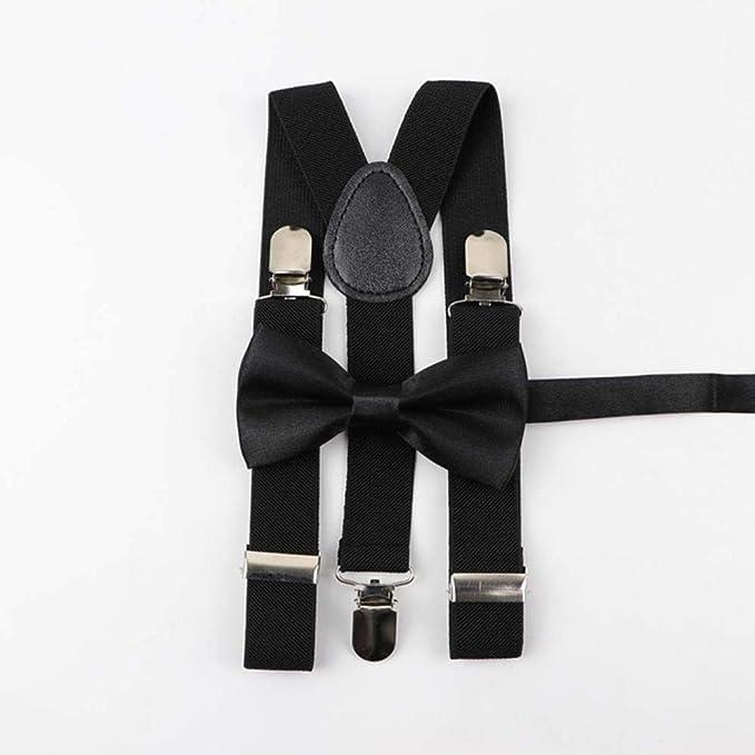 Eg /_ Unisex Herrenmode Verstellbar mit Clip Hosenträger Elastisch Y-Rücken