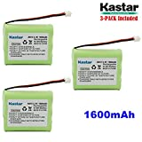 Kastar 3-PACK AAX3 3.6V 1600mAh EH Ni-MH Rechargeable Battery for Vtech, Motorola, Radio Shack, Sanyo Series Cordless Phone (Check your Cordless Phone Model down)