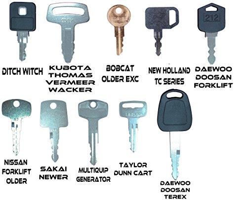 TORNADO HEAVY EQUIPMENT PARTS Construction Equipment Master Keys Set-Ignition Key Ring for Heavy Machines, 64 Key Set by TORNADO HEAVY EQUIPMENT PARTS (Image #6)