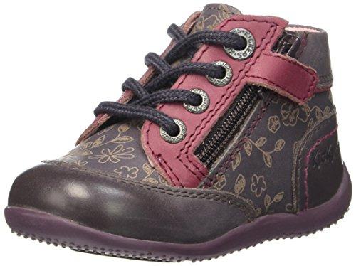 Kickers Biflore - Zapatos de primeros pasos Bebé-Niños Violet (Violet Fc/Rose Fc)