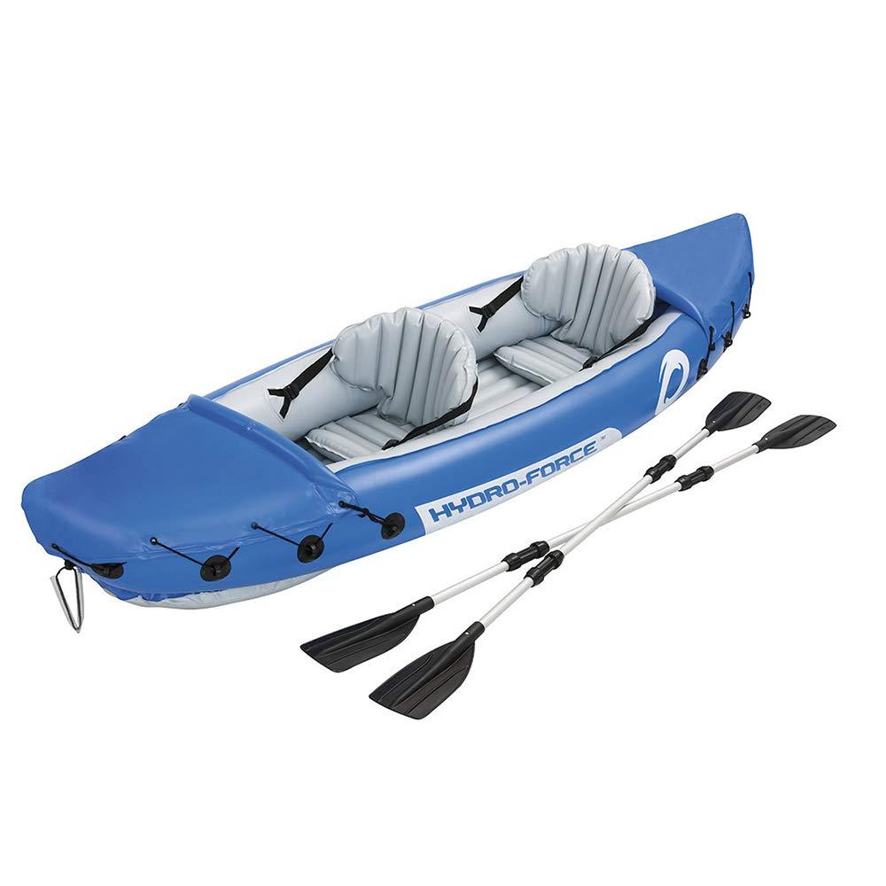 二重カヤックは耐久のゴム製ボートの屋外の挑戦者の膨脹可能なボートを厚くしました   B07PNNZHBH