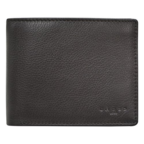 Cross Men's Genuine Leather Bifold Credit Card Wallet with ID Slot (BROWN)