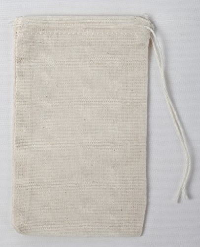 Made in the USA 3x5 Inch (7.5x12.5 Cm) Cotton Muslin Bags 50 Count Pack